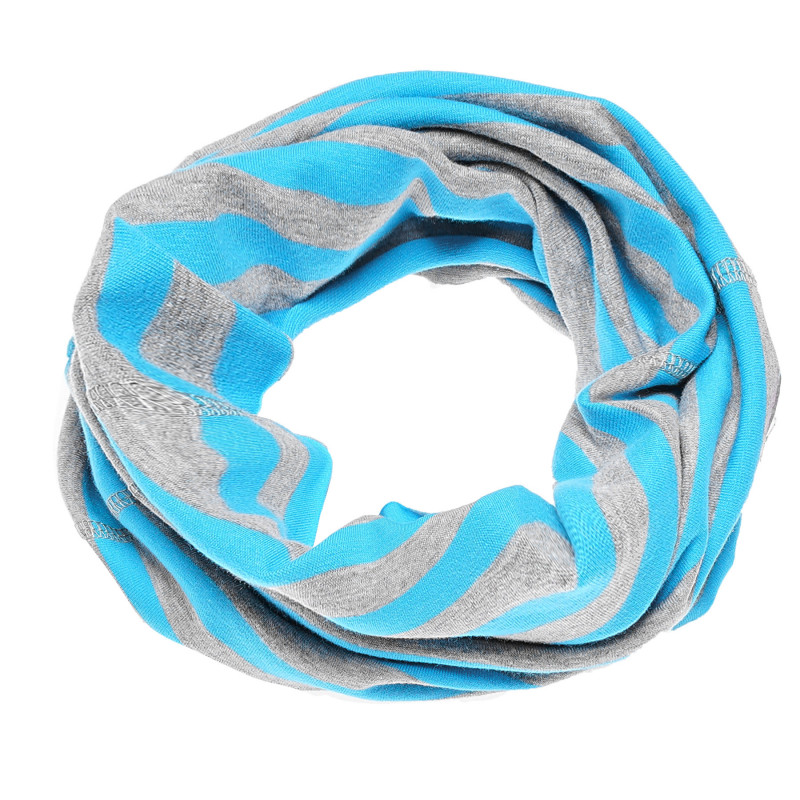 Ριγέ κασκόλ με ανοιχτό μπλε-γκρι χρώμα  100249