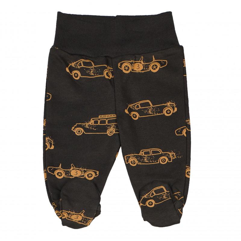 Βαμβακερό παντελόνι με σχέδιο αυτοκινήτων  102831