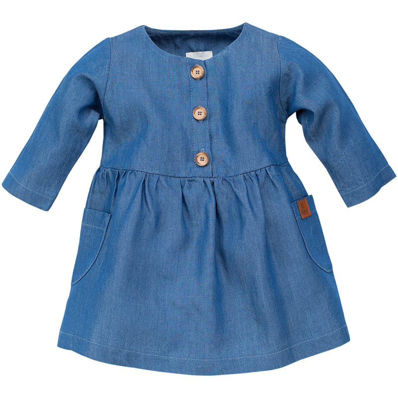 Βαμβακερό βρεφικό φόρεμα με μακριά μανίκια  102877