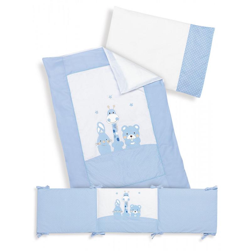 Σετ ύπνου λευκού χρώματος 3 τεμαχίων από 100% βαμβάκι για αγόρι  102950
