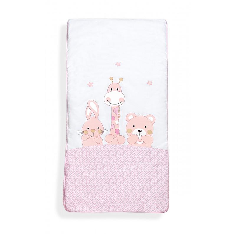 Σετ ύπνου 3 τεμαχίων ροζ χρώματος από 100% βαμβάκι για κορίτσι  102965