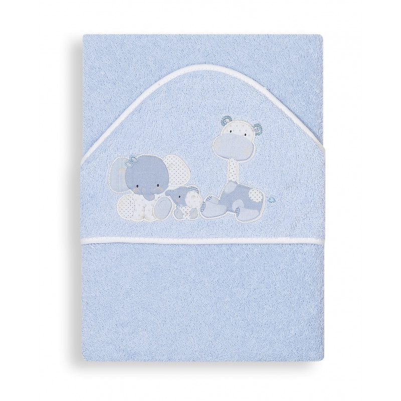 Βρεφική μπουρνουζοπετσέτα, Zoo, για αγόρι, με κεντήματα από ζωάκια  103179