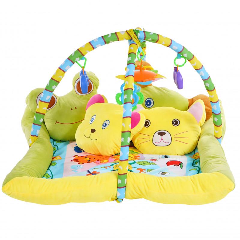 Χαλί με ζωάκια για ενεργή γυμναστική, χρώμα: κίτρινο  103533
