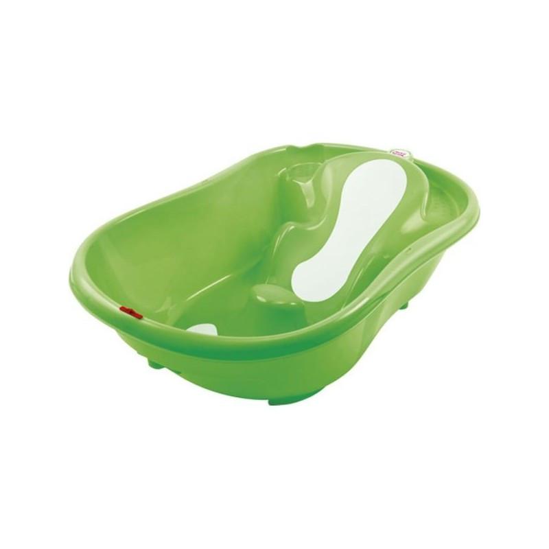Ok Onda evolution ανατομική μπανιέρα σε πράσινο χρώμα με ένδειξη στάθμης νερού  106248