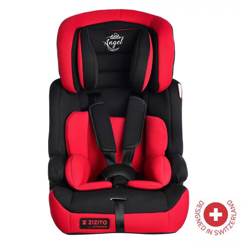 Κάθισμα αυτοκινήτου DIONIS, πιστοποιητικό ασφαλείας από την TUV Germany, ζώνη ασφαλείας 5 σημείων, Unisex, κόκκινο  106324