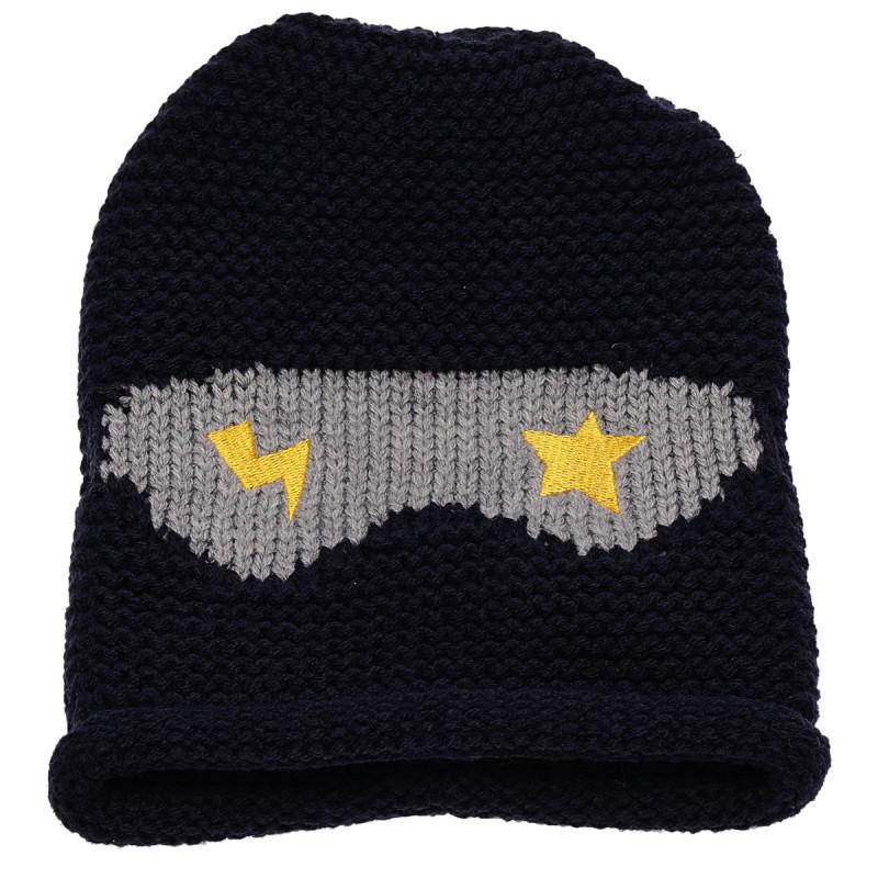 Σκουφάκι για αγόρι, με διακόσμηση μάσκα με αστέρι και αστραπή    106443