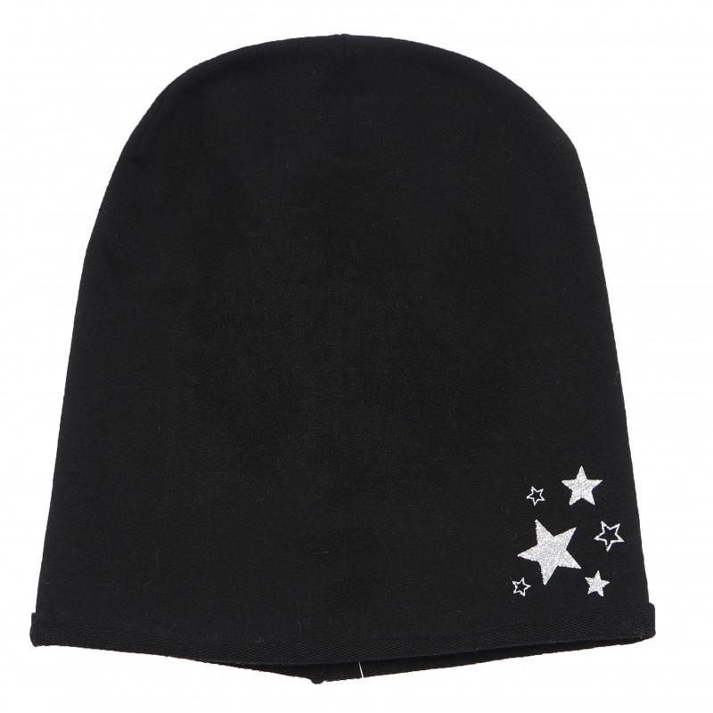 Βαμβακερό σκουφάκι για αγόρι, με διακόσμηση από αστέρια  106494