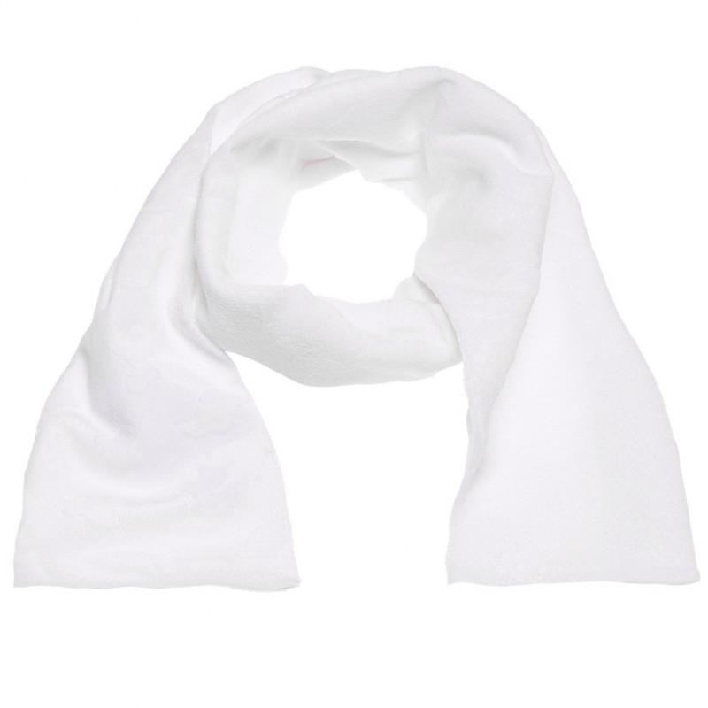 Βελούδινο κασκόλ σε λευκό για κορίτσια  106727