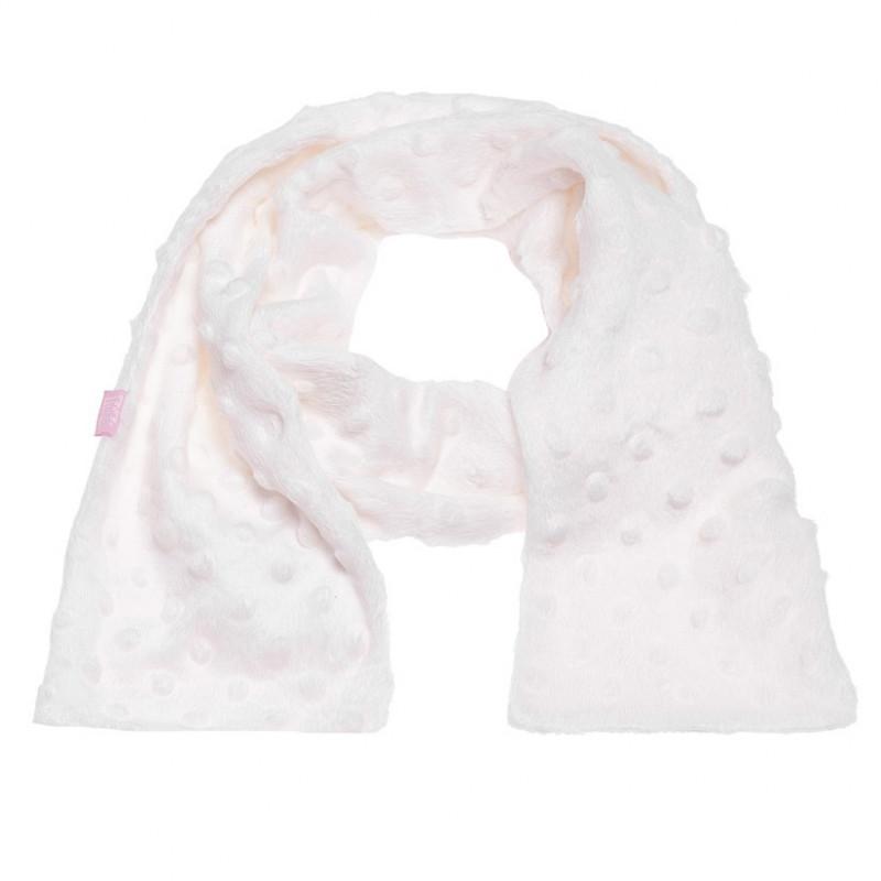 Λευκό βελούδινο κασκόλ για κορίτσια  106730