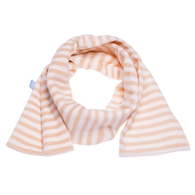 Βελούδινο κασκόλ σε πορτοκαλί και λευκό για κορίτσια  106733