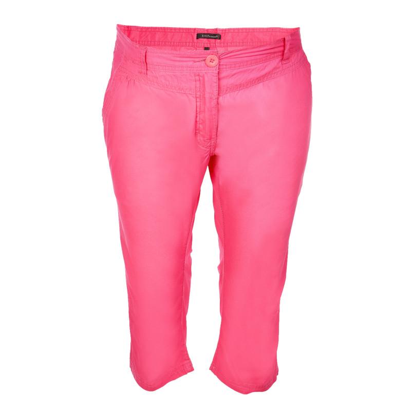 Βαμβακερό παντελόνι κάπρι μητρότητας, ροζ  106953
