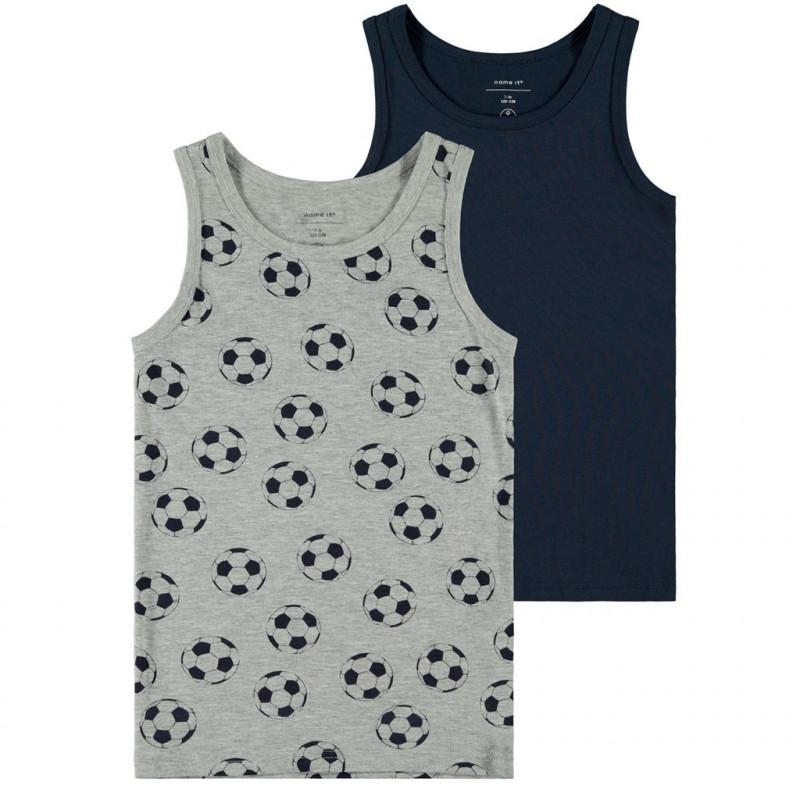 Σετ με δύο μπλουζάκια jersey από οργανικό βαμβάκι για αγόρια  107208