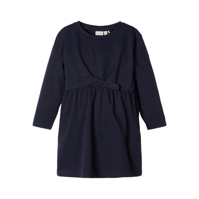 Βαμβακερό φόρεμα, σε σκούρο μπλε για κορίτσια  107400