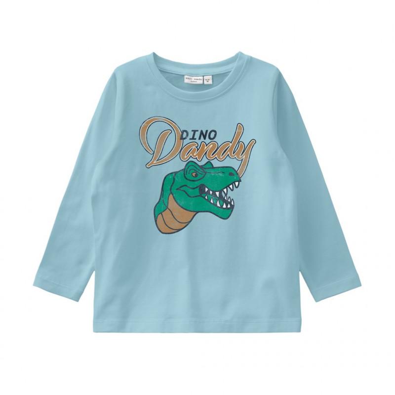 Βαμβακερή μπλούζα με τύπωμα, μπλε για αγόρια  107479