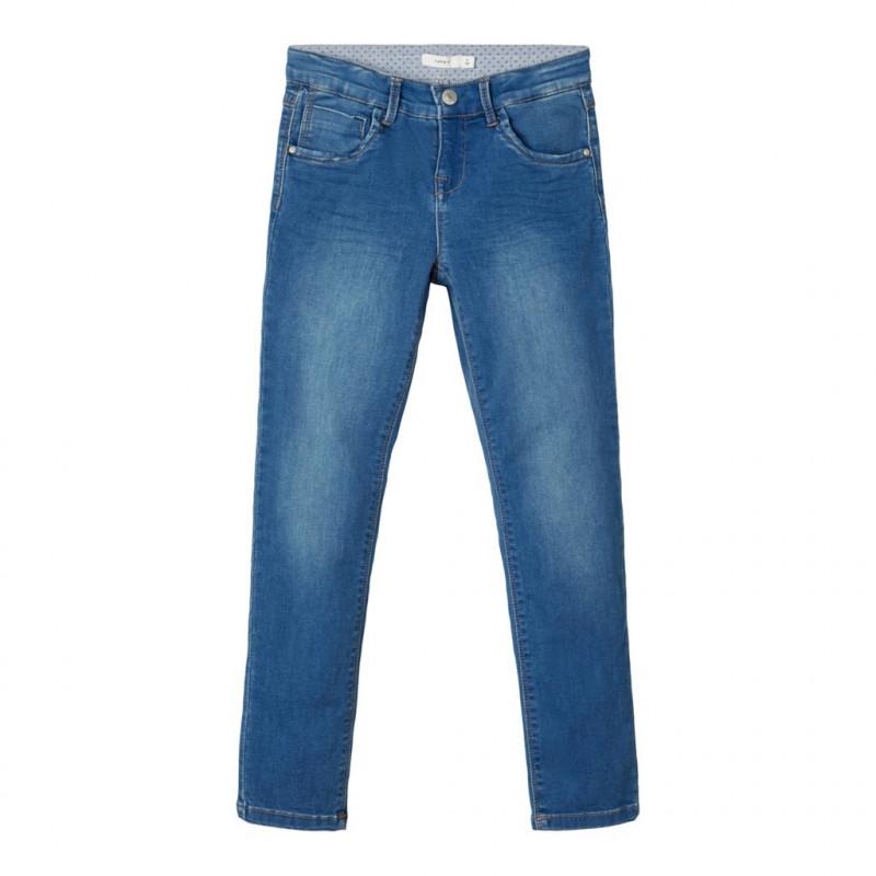 Τζιν παντελόνι σε ίσια γραμμή, μπλε για κορίτσια  107530