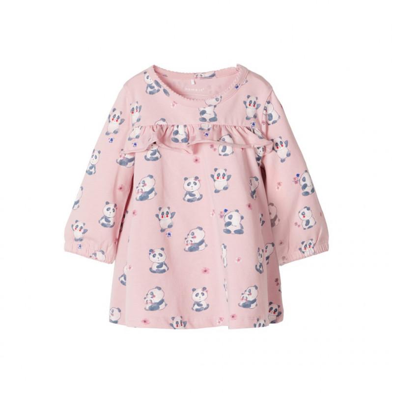 Τουνίκ μακρυμάνικη για μωρά ( κορίτσια ), ροζ  107564