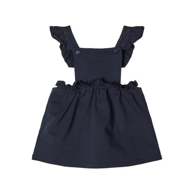 Φόρεμα από οργανικό βαμβάκι, σκούρο μπλε για κορίτσια  107581