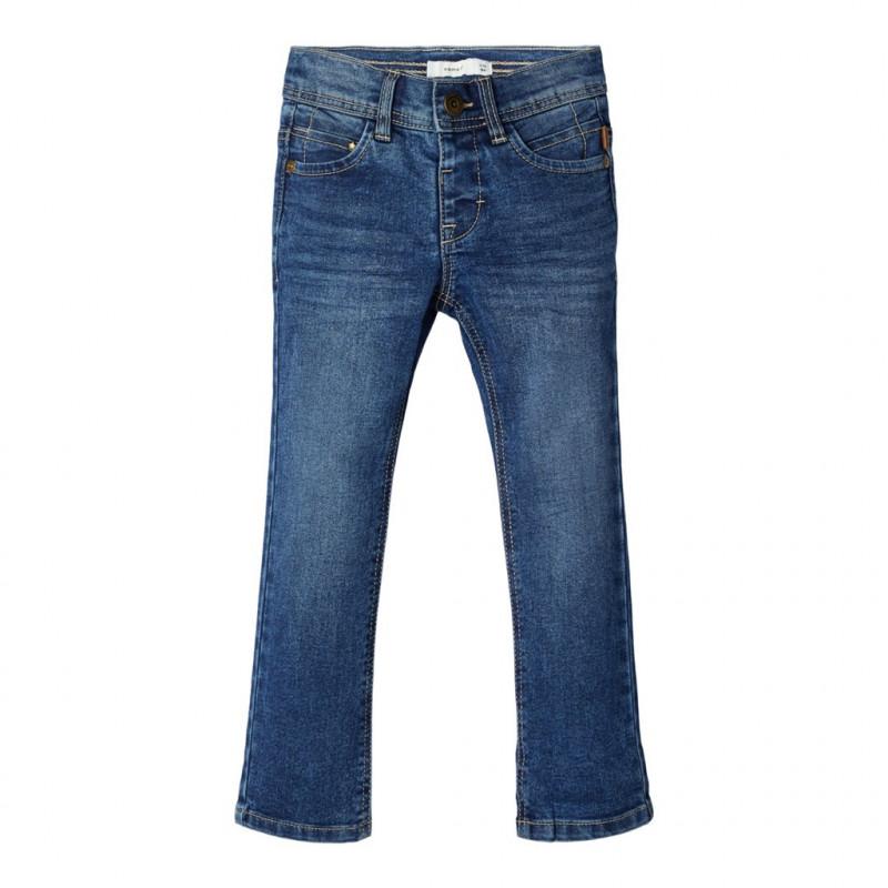 Τζιν παντελόνι από βιολογικό βαμβάκι, μπλε για αγόρια  107646