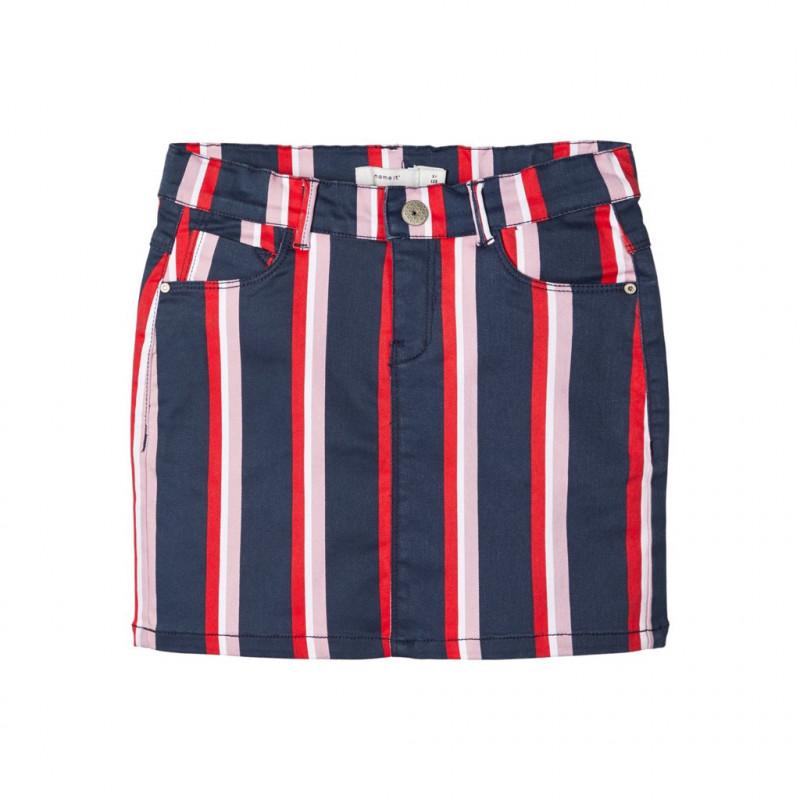Φούστα με πολύχρωμες ρίγες για κορίτσια  107671
