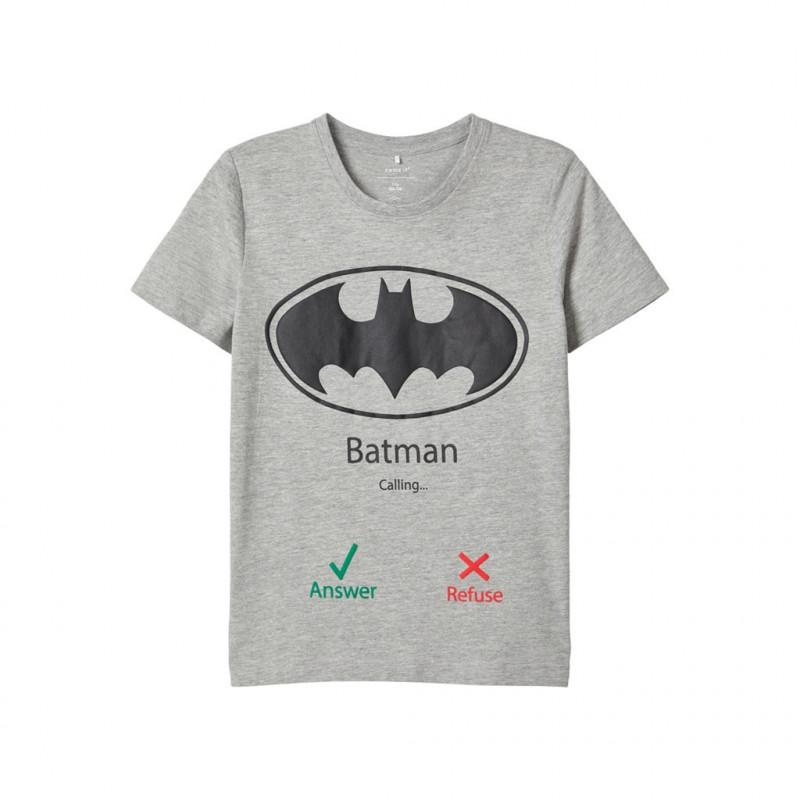 Βαμβακερό μπλουζάκι Batman, γκρι για αγόρια  107677