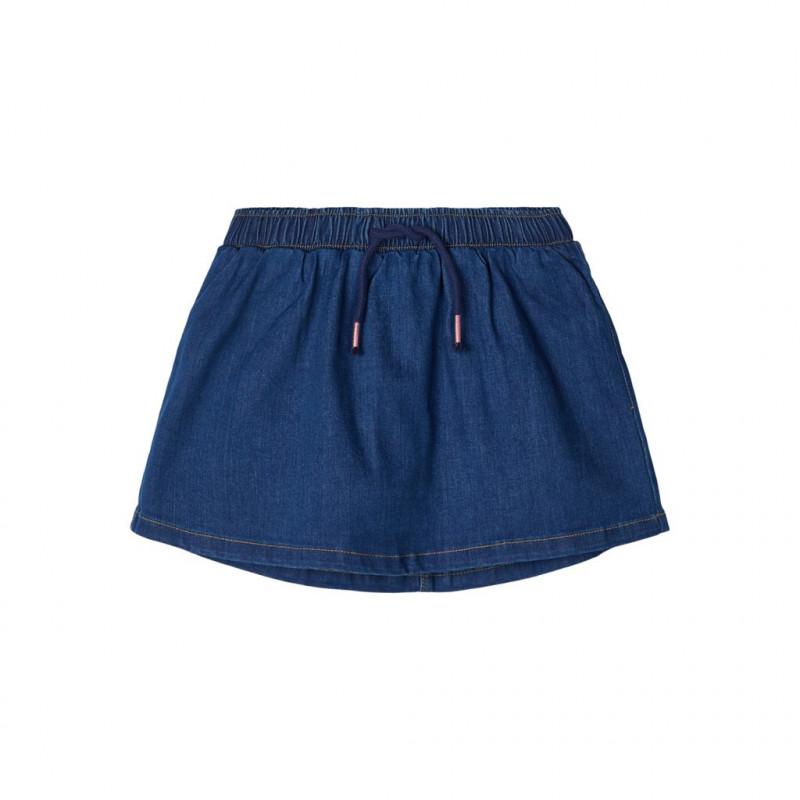 Jean φούστα με κορδόνια, μπλε για κορίτσια  107680
