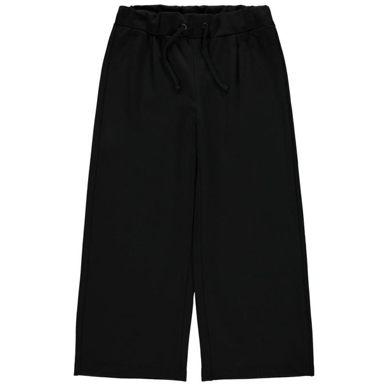 Φαρδύ παντελόνι, σε μαύρο χρώμα για κορίτσια  107689