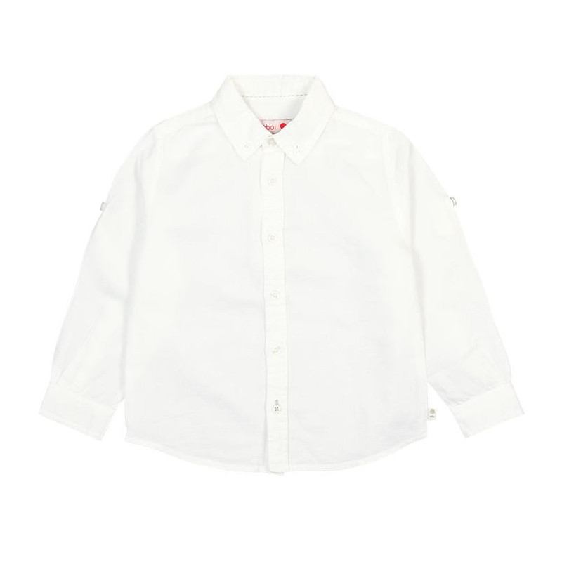 Μακρυμάνικο πουκάμισο σε λευκό για μωρά ( αγόρια )  107777