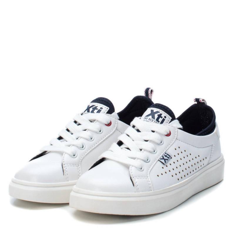 Λευκά sneakers με κορδόνια  107866