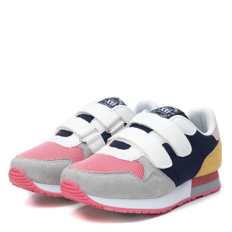 Sneakers με λουράκια velcro και χρωματιστές πινελιές, για κορίτσι  107882