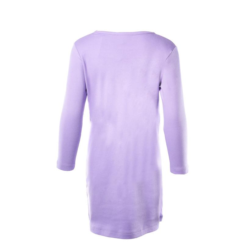 Μακρυμάνικο φόρεμα, σε μωβ χρώμα, με στάμπα  108040