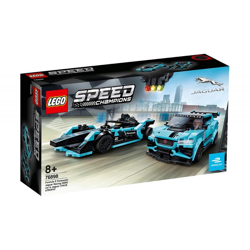 Lego Set, Formula E Panasonic Jaguar Racing GEN2 αυτοκίνητο & Jaguar I-PACE eTROPHY, 565 τεμάχια  110235