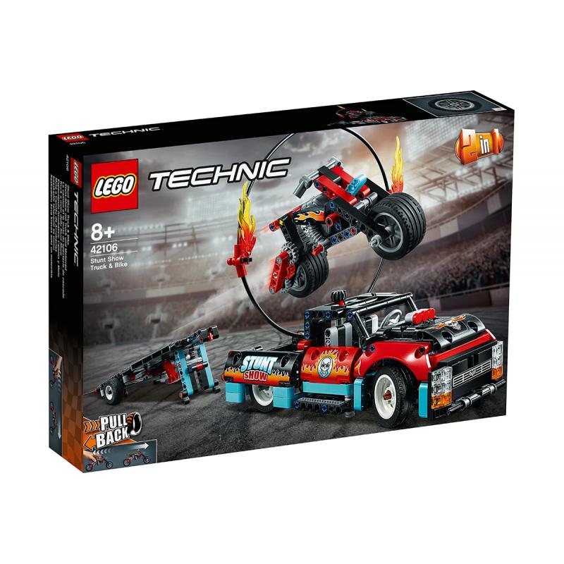 Σετ Lego, Φορτηγό και μοτοσικλέτα για ακροβατικά, 610 τεμάχια  110433