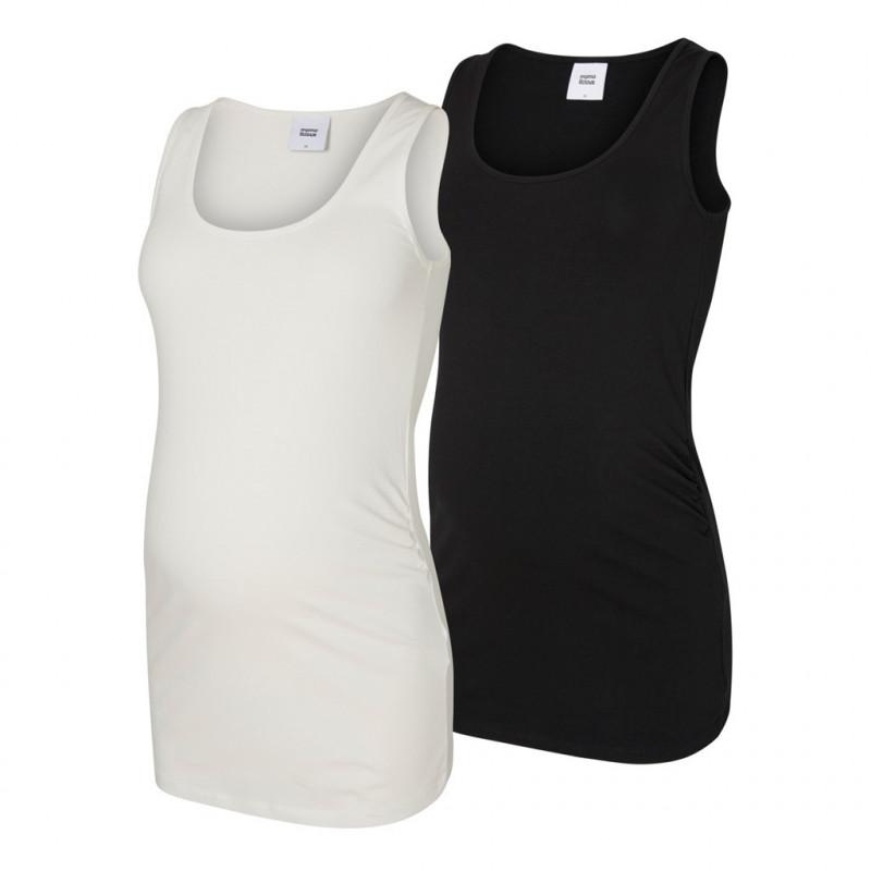 Σετ από 2 πουκάμισα μητρότητας, λευκό και μαύρο  110548