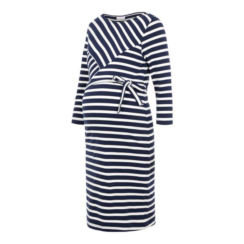 Ριγέ φόρεμα μητρότητας  110563