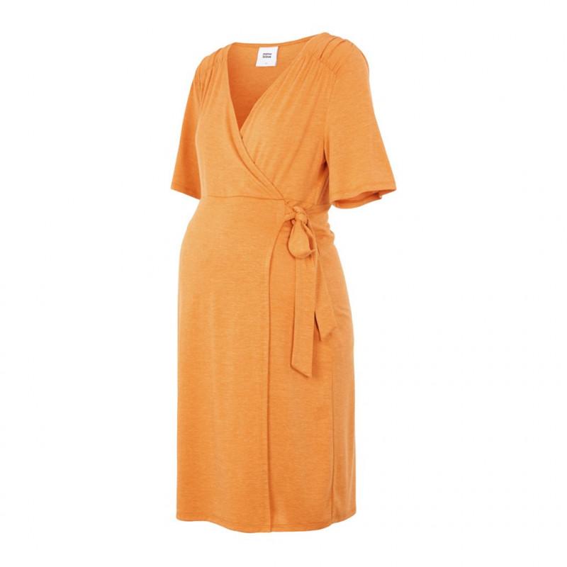 Φόρεμα μητρότητας και θηλασμού, πορτοκαλί  110571