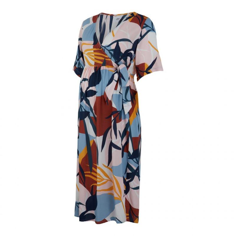 Φόρεμα μητρότητας με πολύχρωμο σχέδιο  110582
