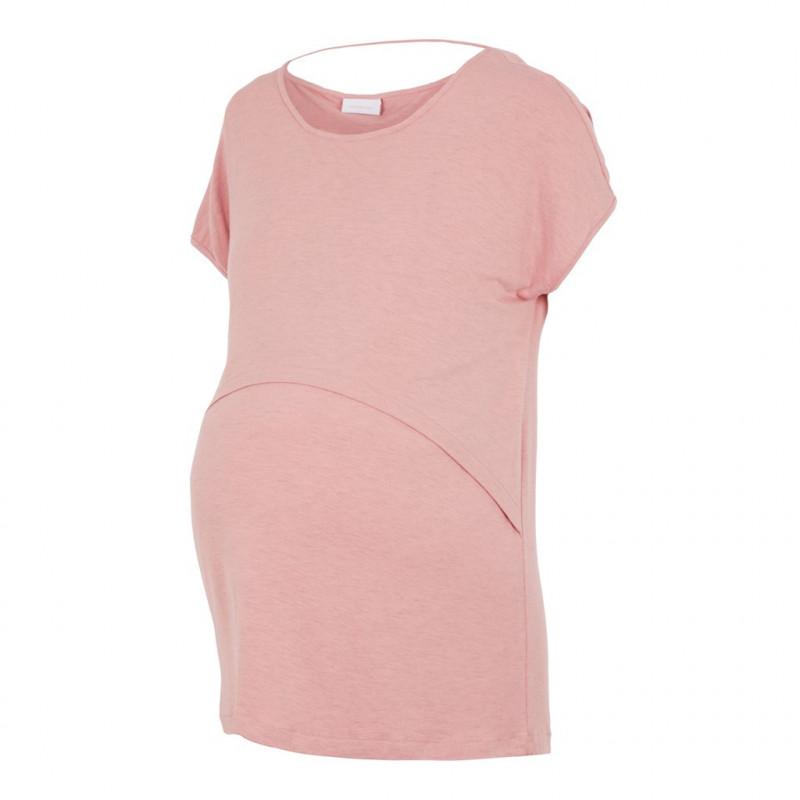 Μακρυμάνικη μπλούζα για έγκυες γυναίκες και θηλάζουσες μητέρες, ροζ  110593