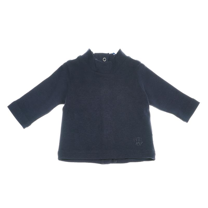 Μπλούζα με μακριά μανίκια, σκούρο μπλε  110998