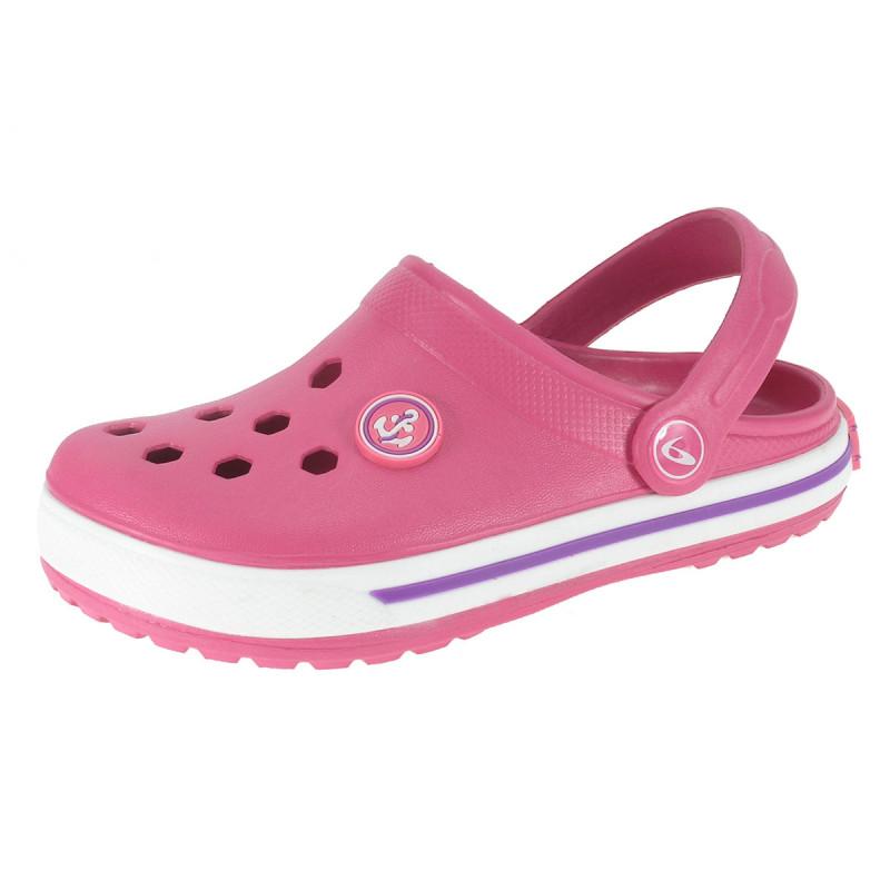 Παντόφλες από καουτσούκ με απλικέ άγκυρα για κορίτσι, ροζ  111845