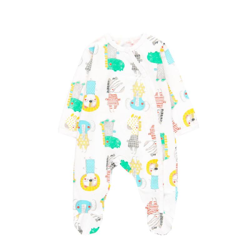 Φόρεμα Boboli με τρισδιάστατη εκτύπωση, λευκό  112690