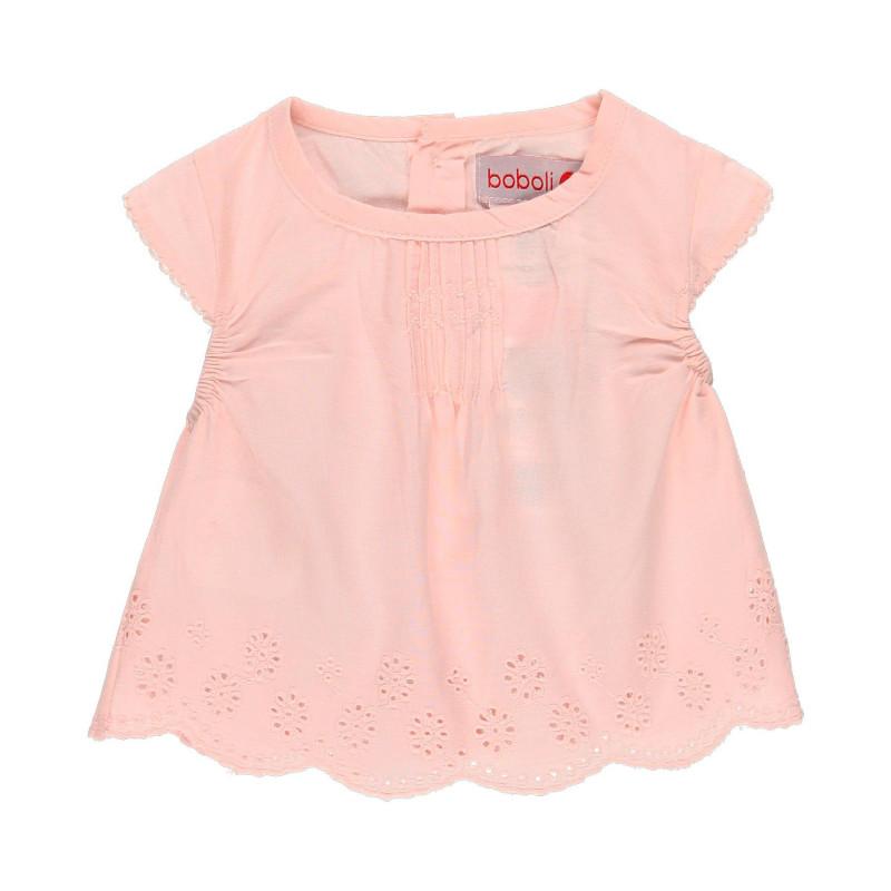 Μπλουζάκι βαμβακερό για κοριτσάκι Boboli, ροζ  112727