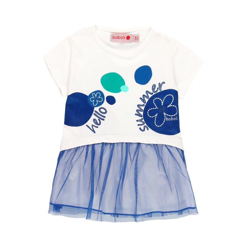 Τούλι φόρεμα μωρού Boboli, λευκό  112806