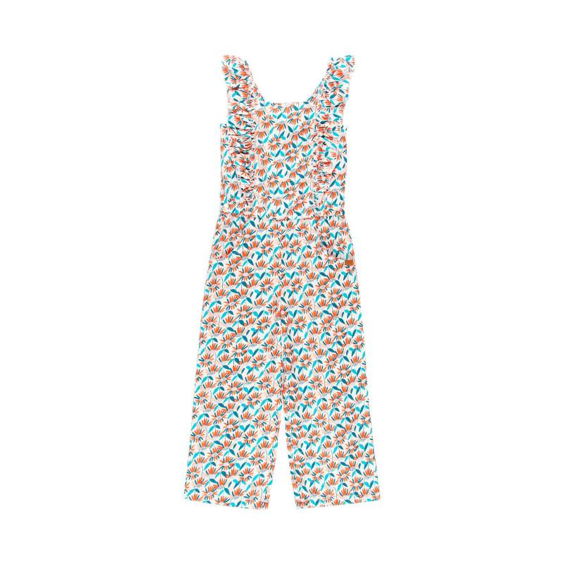 Βαμβακερή γυναικεία φόρμα Boboli με λουλουδάτο τύπωμα  112863