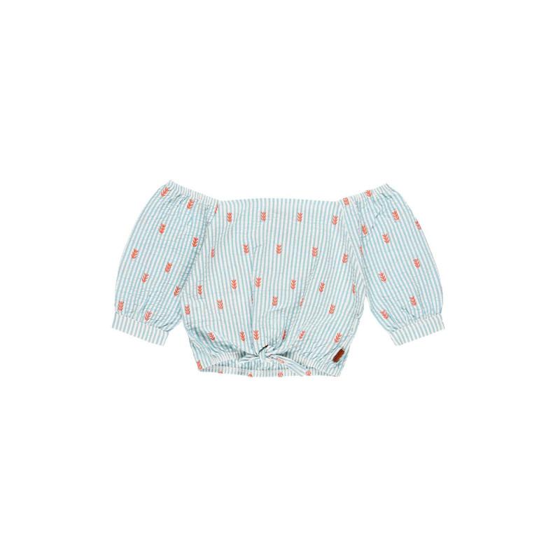 Ριγέ βαμβακερή μπλούζα κοριτσιού Boboli  112878