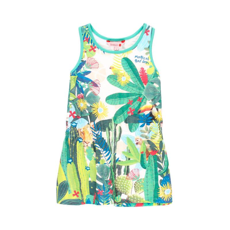 Βαμβακερό φόρεμα της Boboli με λουλουδάτη εκτύπωση  112930