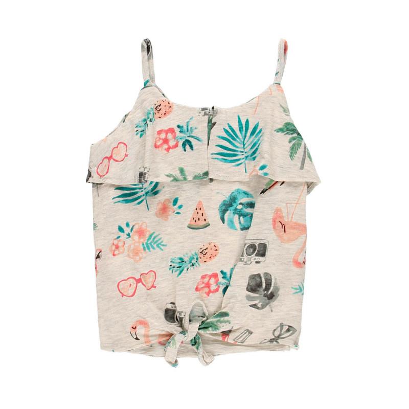 Βαμβακερή μπλούζα Boboli  , γκρι  112946