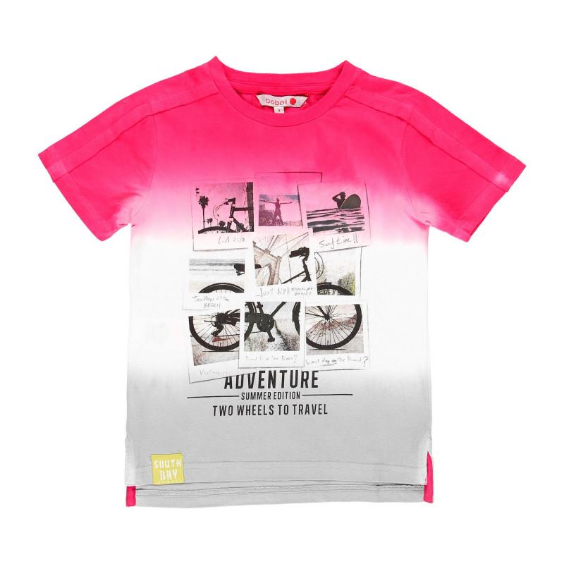 Βαμβακερό μπλουζάκι Boboli boy με τύπωμα ποδηλάτου  112976