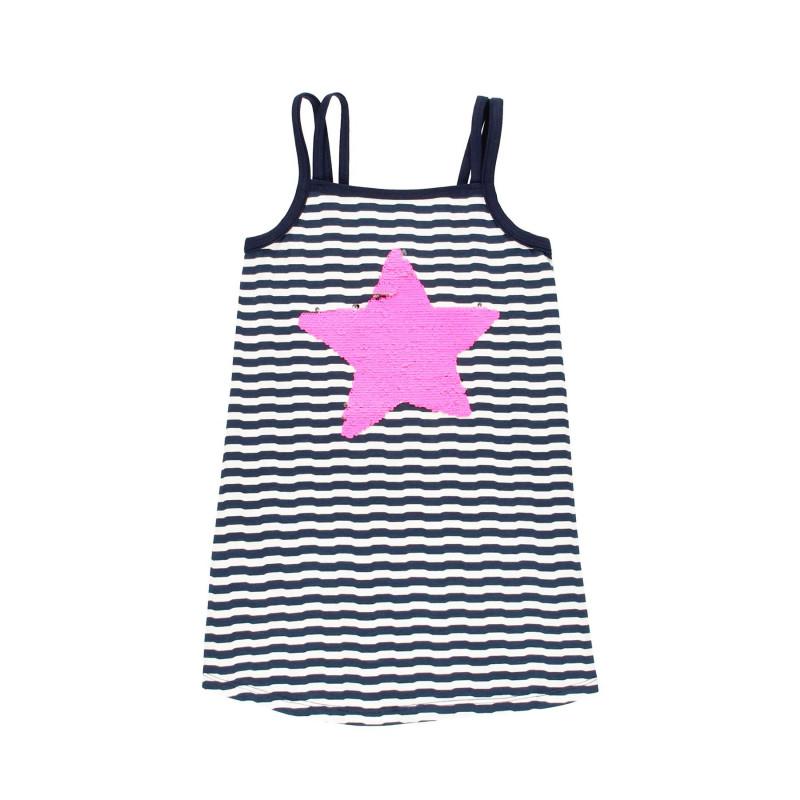 Κοντό βαμβακερό φόρεμα Boboli με ρίγες  113072