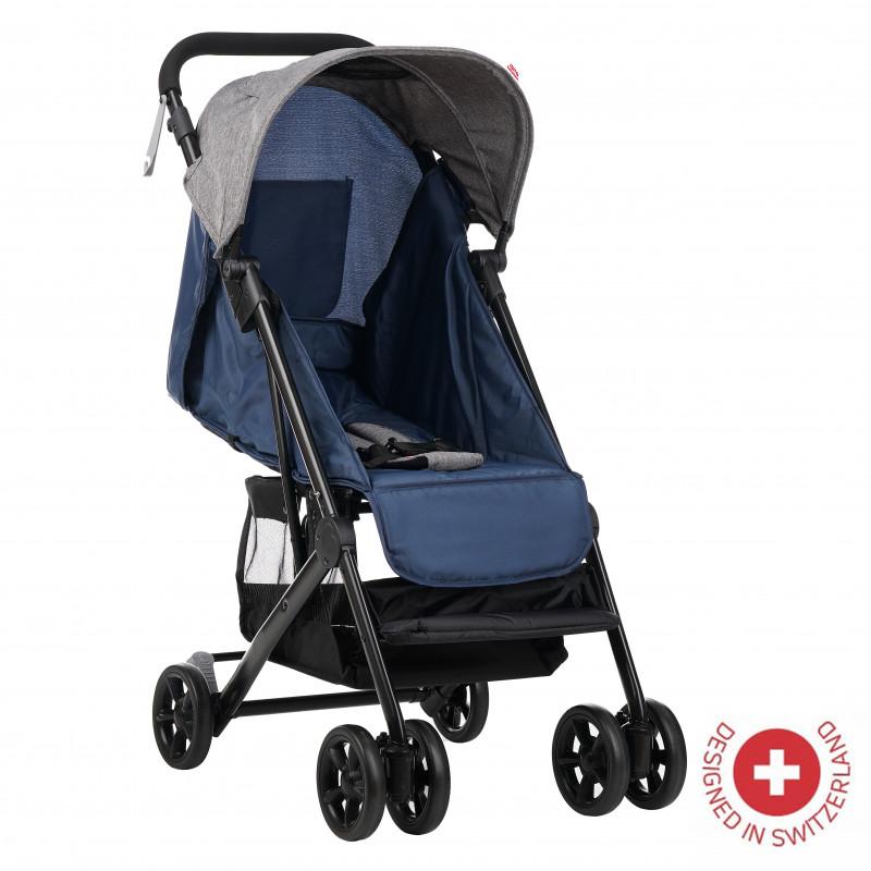 Zizito Baby Stroller - συμπαγές, εύκολο στην αναδίπλωση, μπλε  113564