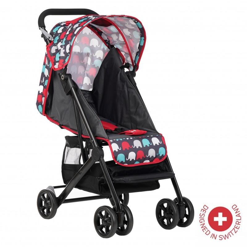 Zizito Baby Stroller - συμπαγές, εύκολο να διπλωθεί, κόκκινο  113565